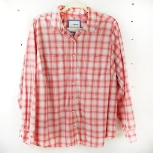 Sonoma Everyday Shirt Plaid Cotton Long Sleeve 1X